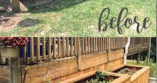 Backyard landscaping with raised garden beds- what a great idea to enclose the u...