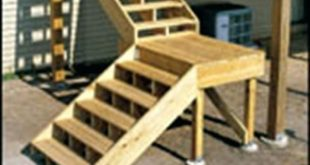 How To Build A Deck Stair Landing - Wallpaper Image