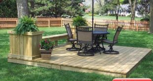 Wonderful Cheap Floating Deck Design For Your Backyard