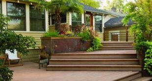I prefer a multi-level deck that lead into the yard rather than one elevated dec...