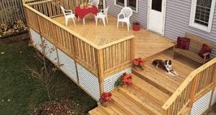 Multi-level Deck with Wide Stairs and Pergola - Picture Gallery - How to Design ...