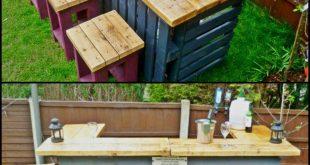 26 super coole Outdoor-Bars für Ihr Zuhause Outdoor-Bar Ideen diy, Outdoor-Bar-...