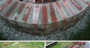 30 großartige DIY Ideen um aus ein paar Pflastersteinen eine schöne Feuerstelle günstig zu bauen