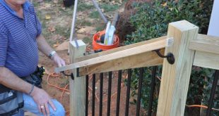Step by step instructions for how to install deck stair railings. Learn about t ...