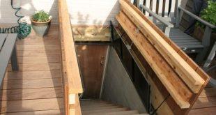 Hidden door in deck to basement stairs