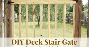 How to Build Your Own Deck Stair Gate