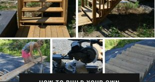 How to build deck stairs from pressure treated lumber, #build #Deck #lumber #pre...