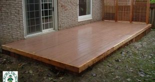 Low, single level deck with a privacy screen (#1R6096).