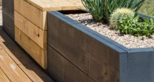 Moderne Pflanzerbank #moderne #pflanzerbank | DIY Garden Decoration | Backyard ...