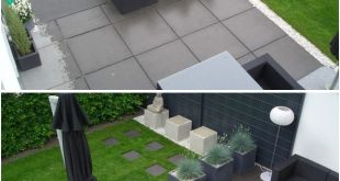 We always thought we would like square paving to fit in with the kitchen tiles b...