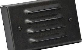 """exterior LED deck step lights 4.5"""" wide louvered faceplate - Google Search"""