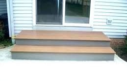 small wooden landing steps to patio - Google Search