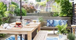 Inspiring Small Deck Decorating Ideas on a budget for 2019 #deckideas #small #Pa...