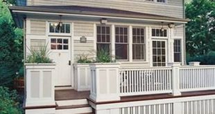 Deck Stairs With Planters Railings 21+ Best Ideas