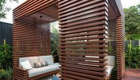 Diseño de una moderna terraza de madera de una casa en la ciudad [Fotos