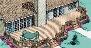 Dream deck. I think this would look great across the entire back of our house!
