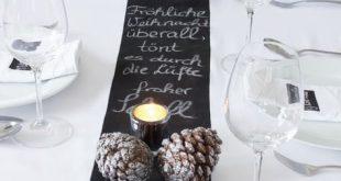 Festtafel zu Weihnachten - Tischdekoration mit Tafelfarbe