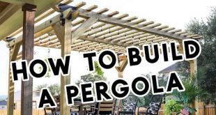 How To Build A Pergola - YouTube