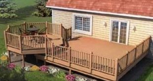 Picnic Deck with Raised Dining Area - Project Plan 90015 | For those who enjoy f...