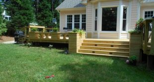 Raleigh Re-Deck With New Wide Stairs for Easy Access to the Backyard #outdoorliv...