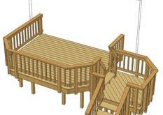 back deck stairs angled with small landing - Google Search