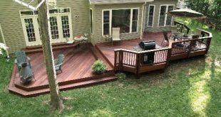 low levels and shapes like the low level deck on an angle with fire pit conversa...