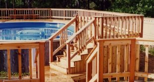 multi level above ground pool deck designs
