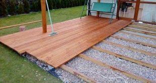 (1) Taras drewniany na gruncie i słupach budowa krok po kroku - YouTube