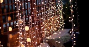 10 Waterfall String Light Wedding Decoration Ideas To make a wedding from ordina...