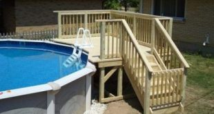 25 Trendy Above Ground Pool Deck Stairs