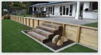 28+ Trendy Backyard Deck Stairs Retaining Walls