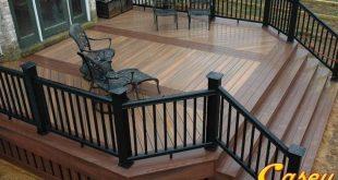 500 square foot Fiberon composite IPE deck with Fiberon Rosewood inlays picture ...