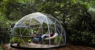 Das Garten-Iglu ist ein transparenter Baldachin für Ihren G