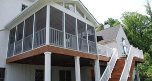 Elevated Screened Porch with Deck and Stairs