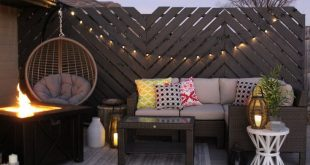 Floating Deck: Final Reveal 2019 DIY Floating Deck featuring a Chevron Privacy ...