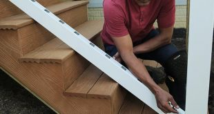 How to Build a Deck: Composite Stairs and Stair Railings