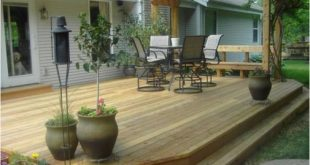Image result for deck stair with no railing #stairs #deck #stairs