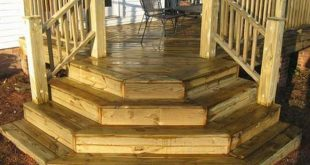 Inspiring Corner Deck Stairs Design Deck Steps Design Deck Design And Ideas 201...