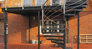 Komplette Anlage feuerverzinkt, und Pulverbeschichtet Geländer aus Edelstahl V2...