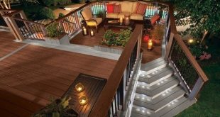 Multi level decks with two staircases