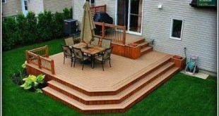 Small Deck Ideas - Decorating Porch Design On A Budget Space Saving DIY Backyard..., #Backya...