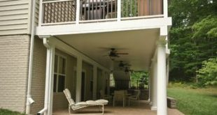 The best and easiest way to cover a patio with an elevated deck above, is with u...