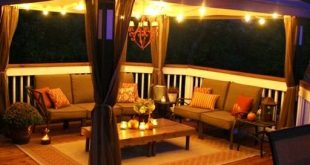 The deck itself may be simple, but the decor, lighting, and canopy make it amazi...