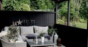 künstliches Rattan, Holzdeck, Terrasse, schwarz, Loungesofa, lackiertes Holzdeck, Terrassenkunststoff